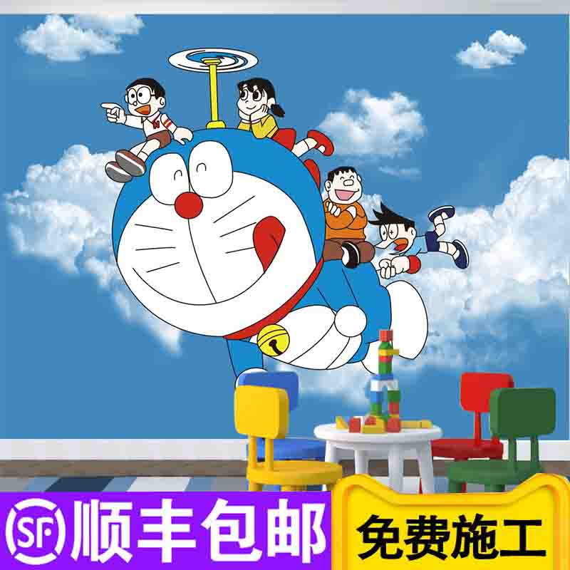 Usd 13 77 Children S Room A Dream Wallpaper Cute Cartoon Machine Cat Wallpaper Boy Bedroom Bedhead Mural Environmental Wall Cloth Wholesale From China Online Shopping Buy Asian Products Online From The