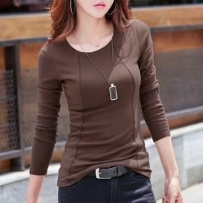 2018春装新款韩版修身显瘦长袖t恤