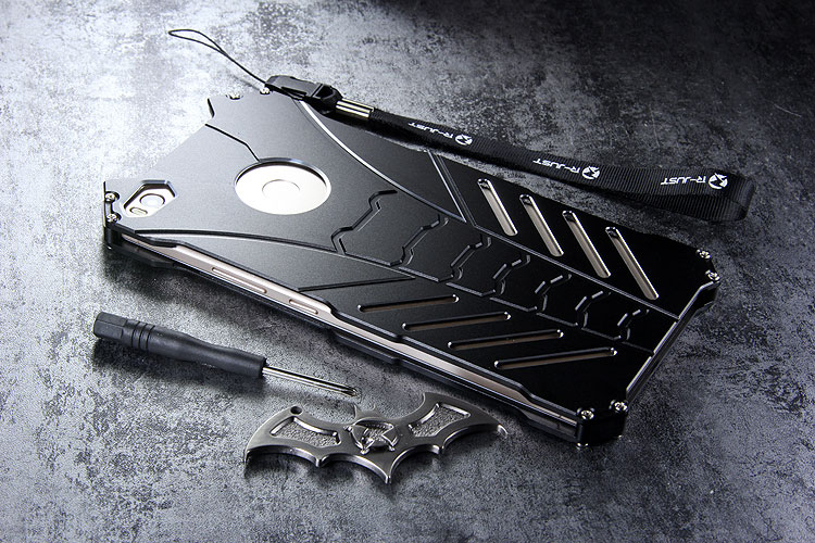 R-Just Batman Shockproof Aluminum Shell Metal Case with Custom Stent for Xiaomi Mi Max 2