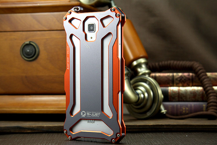R-JUST GUNDAM Aerospace Aluminum Contrast Color Shockproof Metal Shell Outdoor Protection Case Xiaomi Mi 4/ Mi4
