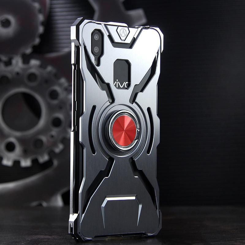 WK Iron Man Military Grade Shockproof Screw-less Metal Case w/ Ring Holder for vivo X21 UD & vivo X21