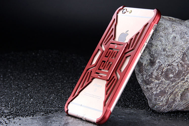 iy Metror Butterfly Aluminum Shell Shockproof Aerospace Metal Case Cover with Kickstand for iPhone 6S Plus & iPhone 6S