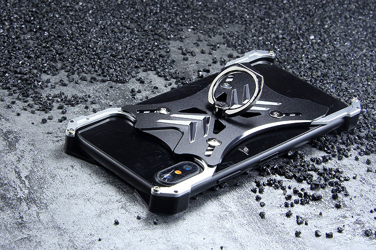 R-Just Soul Calibur Blade Master Ring Holder Shockproof Aerospace Aluminum Metal Shell Case Cover for Apple iPhone X
