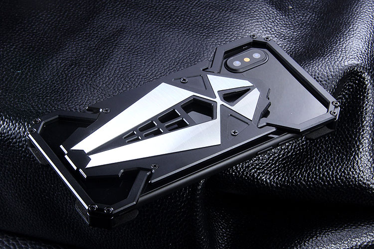 S.CENG Spider-Man Shockproof Aerospace Aluminum Metal Shell Case Cover for Apple iPhone X