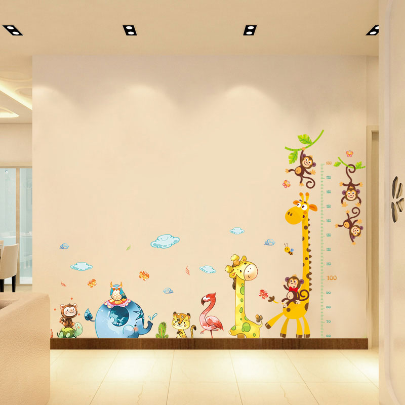 Usd 13 77 Kindergarten Wall Stickerchildren S Room Wall Painting Bedroom Wall Decoration Sticker Baby Height Self Adhesive Bed Head Self Paste Wholesale From China Online Shopping Buy Asian Products Online From The Best