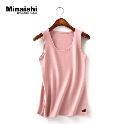 Thicken vest female Korean version cotton solid color hanging tape cotton padded shirt wearing loose warm upper spring