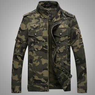 Весна случайный люди военная форма пилот тонкий механическая обработка больше карман камуфляж куртка jacket есть большой размеры крышка