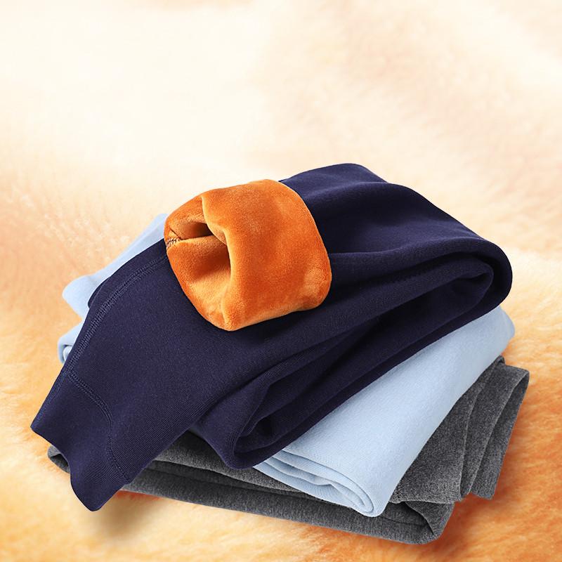 男童保暖裤内穿冬儿童一体绒打底裤小男孩加绒加厚秋裤中大童棉裤