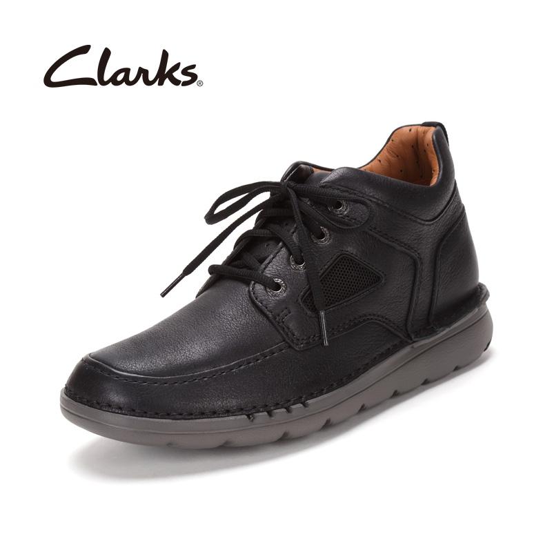 高端!牛皮鞋面+羊皮鞋里!Clarks 男士 unnature MID 经典靴