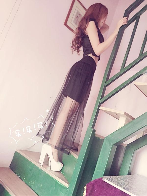 型色春装新款名媛风长裙性感单肩裹胸夜店抹胸网纱拼接无袖连衣裙