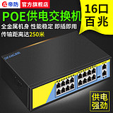 Difang 48V standard POE switch 16 channels video recorder uses poe power supply network camera splitter