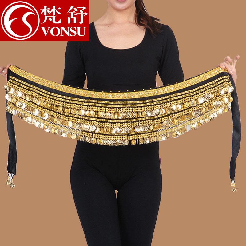Fan Shu талия живота талии цепи тазобедренное полотенце и тяжелый и зашифрованный индийский танцевальный бархат новая коллекция 338 новичок в золотой монете