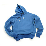 EASY SERIES Jane series God blue logo hoodie men plus velvet autumn and winter sports sweater