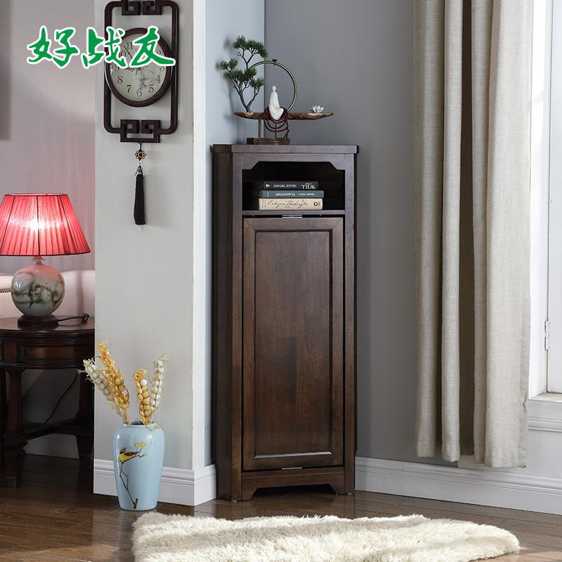 Đồng chí chiến tranh rắn gỗ góc tủ góc tủ giá phòng khách góc giá ánh sáng sang trọng tam giác lưu trữ tủ góc tủ - Buồng