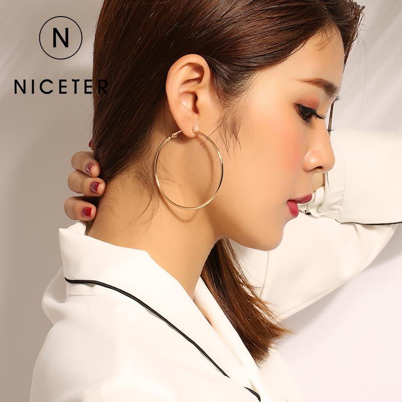 韩国圆圈简约耳环气质百搭耳圈耳饰个性潮人圆形耳钉女大圈圈耳坠