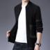 Lineberger Quần áo nam mùa xuân Mới đan áo len Xu hướng Áo trẻ trung Áo khoác cỡ lớn Hàn Quốc Slim - Áo len