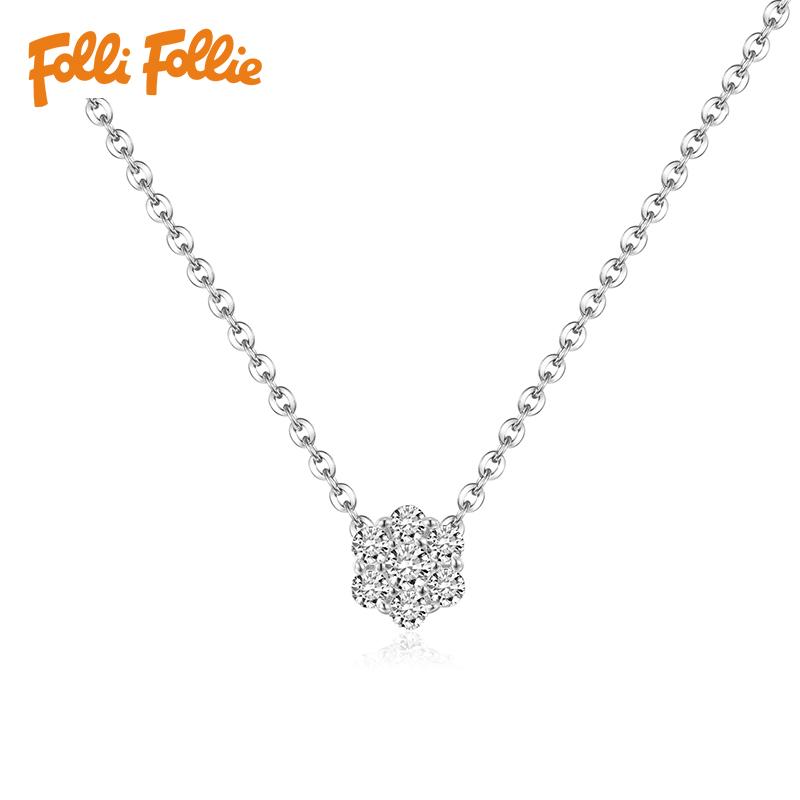 新年礼物Folli Follie芙丽芙丽S925项链女锁骨链3N16S043