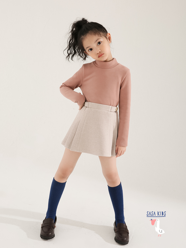 SASAKIDS customized girls' winter dress, children's college pleated skirt, little girl skirt