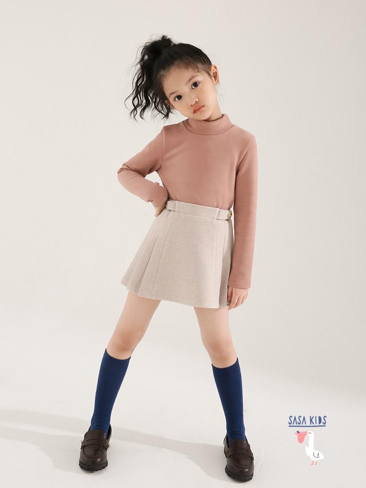 SASAKIDS customized girls' winter dress, children's college pleated skirt, little girl skirt