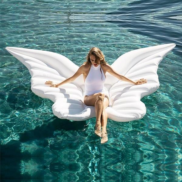 Ангельские крылья газированный поплавок кровать бабочка плавающий крылья ангела водный плавать круг воздушная подушка свадьба фото фотография реквизит