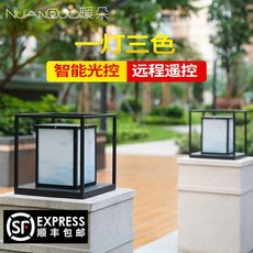 Warm solar column headlights modern minimalist villa waterproof courtyard lamp wall door pillar exterior lamp home