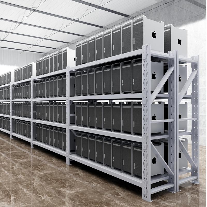 Storage warehouse shelf shelf white household basement shelf display rack Floor-to-ceiling multi-layer storage iron frame
