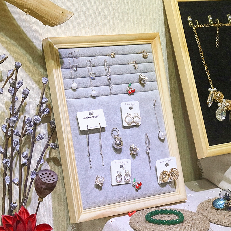 Photo frame jewelry frame creative hanging earrings display board earrings shelf ring storage rack necklace jewelry wall hanging board