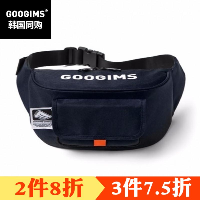 韩国两用GOOGIMS韩版春夏海军腰包正品款活力v两用蓝色