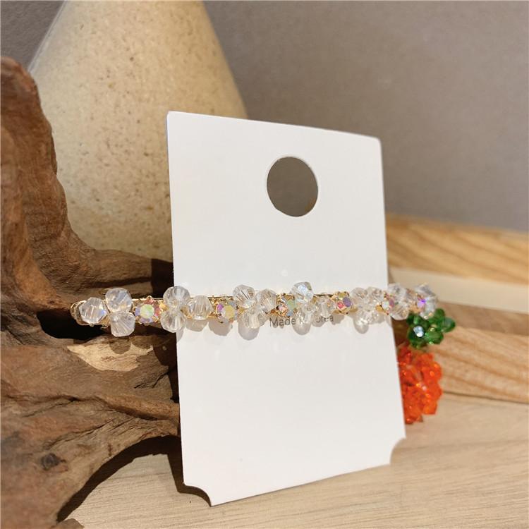 handmade crystal small orange hairpin  NHOF269536