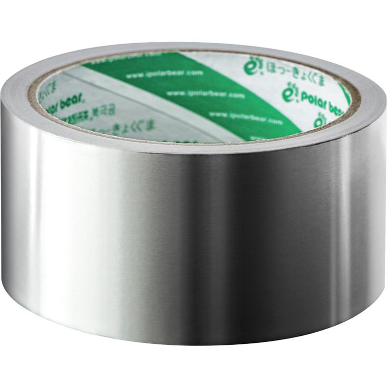 北极熊加厚铝箔胶带锡箔胶带纸防水包管耐高温定制胶
