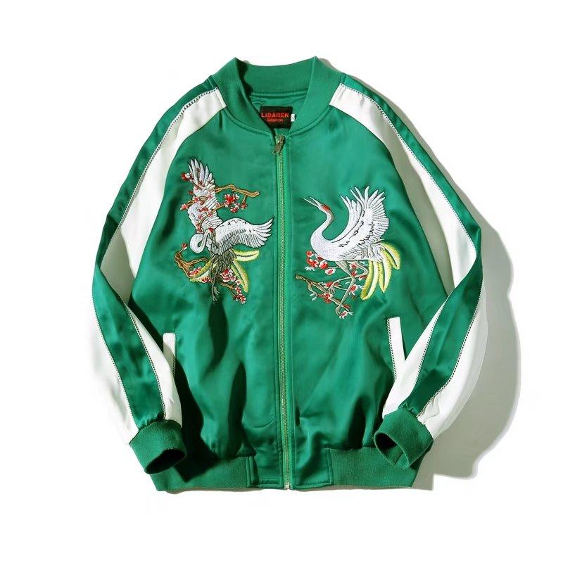 Mùa thu Nhật Bản Yokosuka thêu áo khoác bay nam ulzzang tide thương hiệu áo khoác xã hội quần áo phần mỏng đồng phục bóng chày