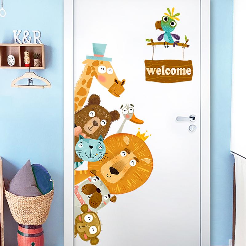 USD 13.72] Cartoon door stickers 3d wall stickers children\'s ...