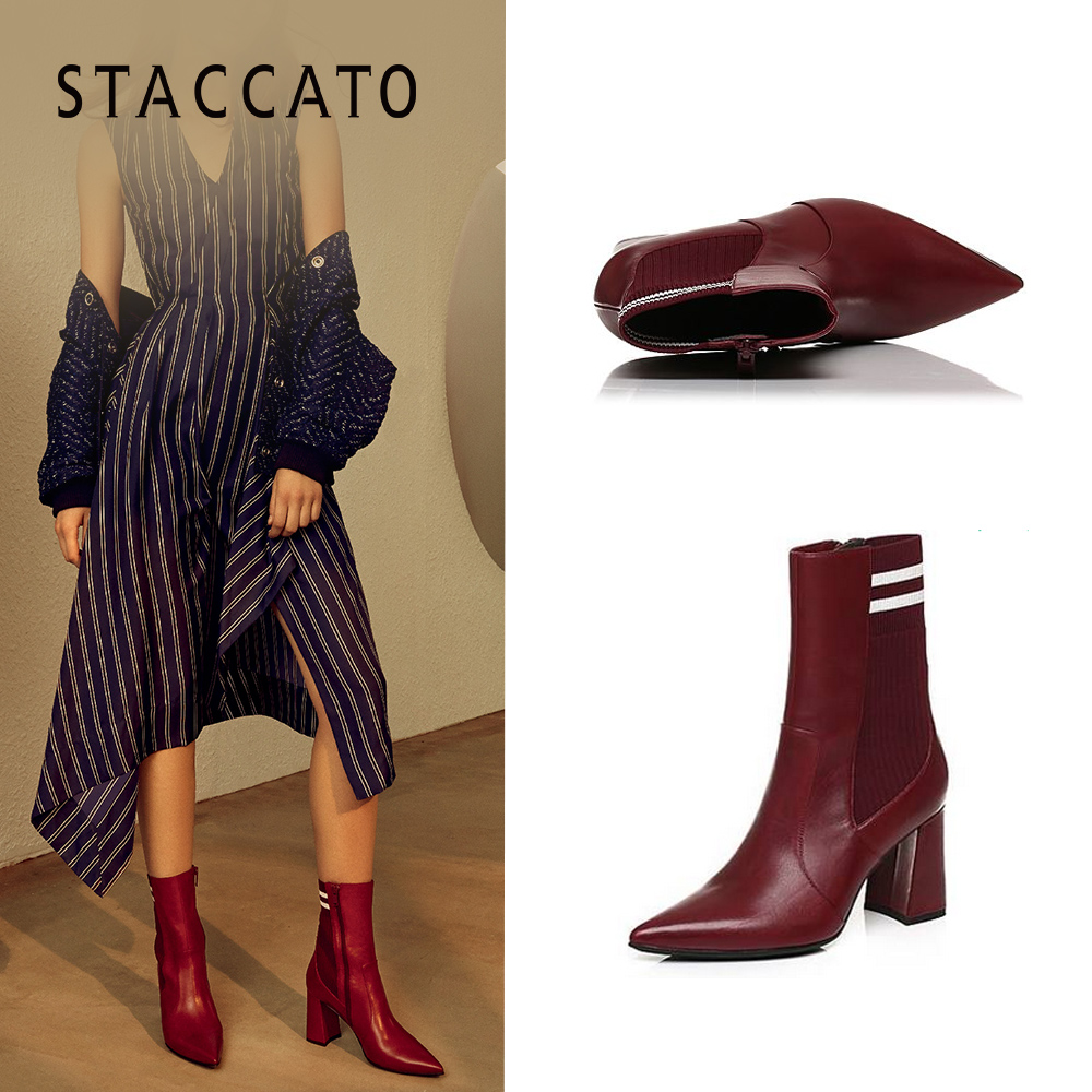 e26c5a70679d STACCATO plus winter counter with pointed high-heeled fashion women s boots  9j411dz7