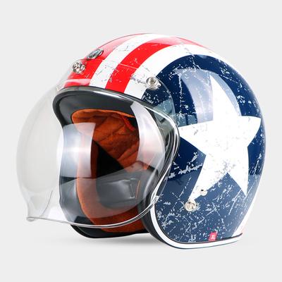 复古头盔男摩托车头盔夏季女四季半覆式半盔个性机车哈雷TORC头盔