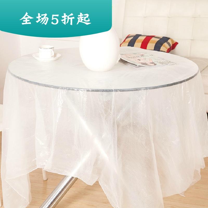 Khăn trải bàn hình chữ nhật dày dùng một lần bàn tròn trong suốt nhà hàng khăn trải bàn gói nhựa bàn ăn nhà khách sạn phim - Các món ăn dùng một lần