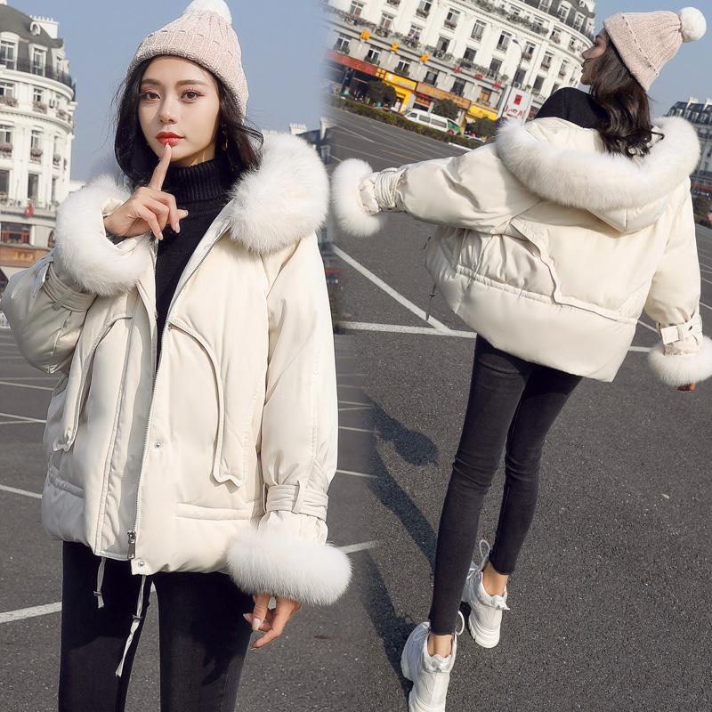 特价小个子棉服2018冬季新款韩版大毛领chic显瘦短款女外套棉衣潮