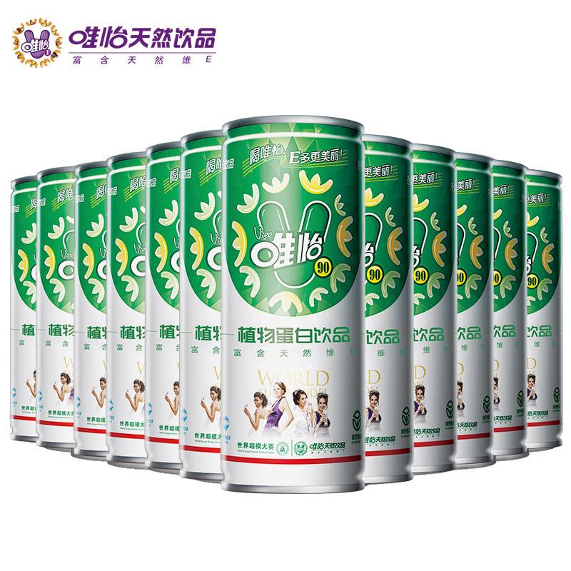 0添加、解辣解腻:viee 唯怡植物蛋白坚果饮品 245mlx12瓶