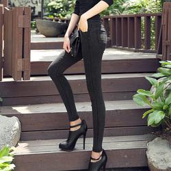 今日特价网春夏新款打底裤外穿薄款女士黑色小脚铅笔裤显瘦紧身仿牛仔长裤子
