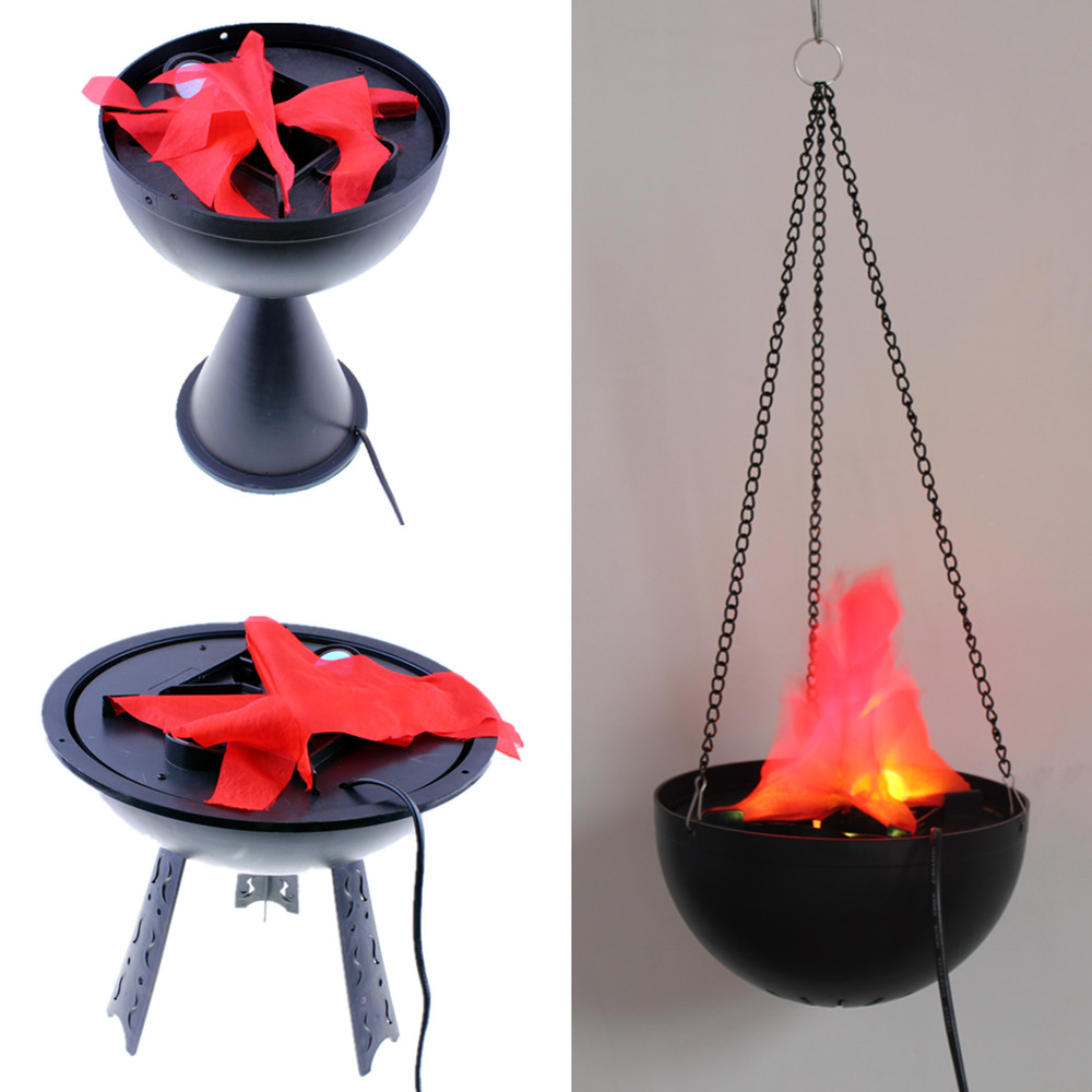 Lin Fang flame lamp Mid-Autumn wedding bar KTV decorative supplies LED electronic Brazier large simulation Brazier lamp