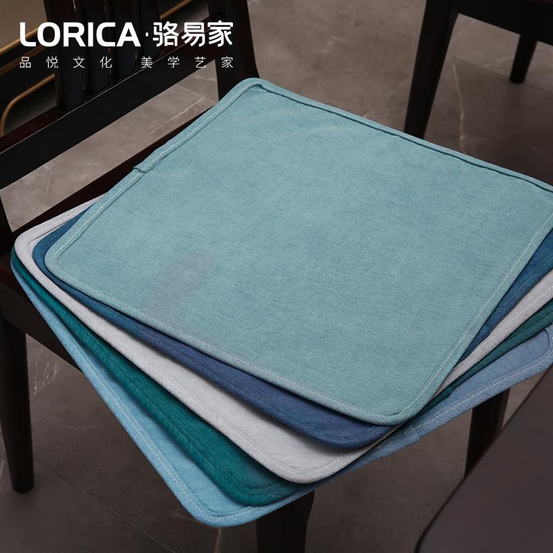 雪尼尔椅子垫薄款沙发坐垫屁垫餐桌板凳办公垫子防滑家用椅垫定制