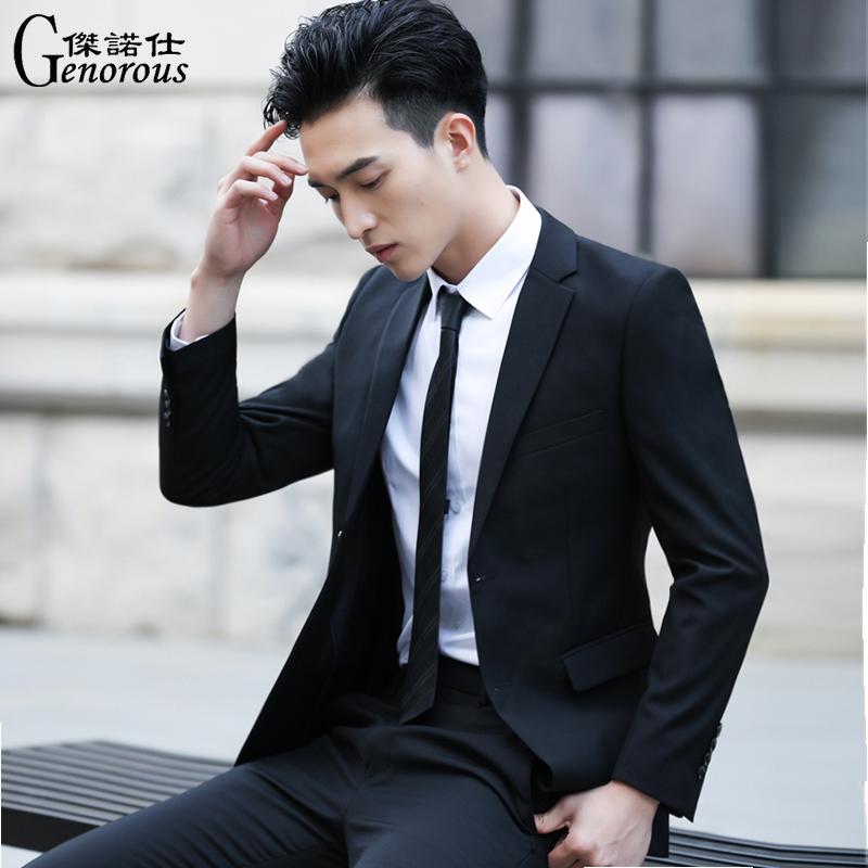 西服套装男士外套上衣青年韩版修身春季商务休闲正装单西小西装男