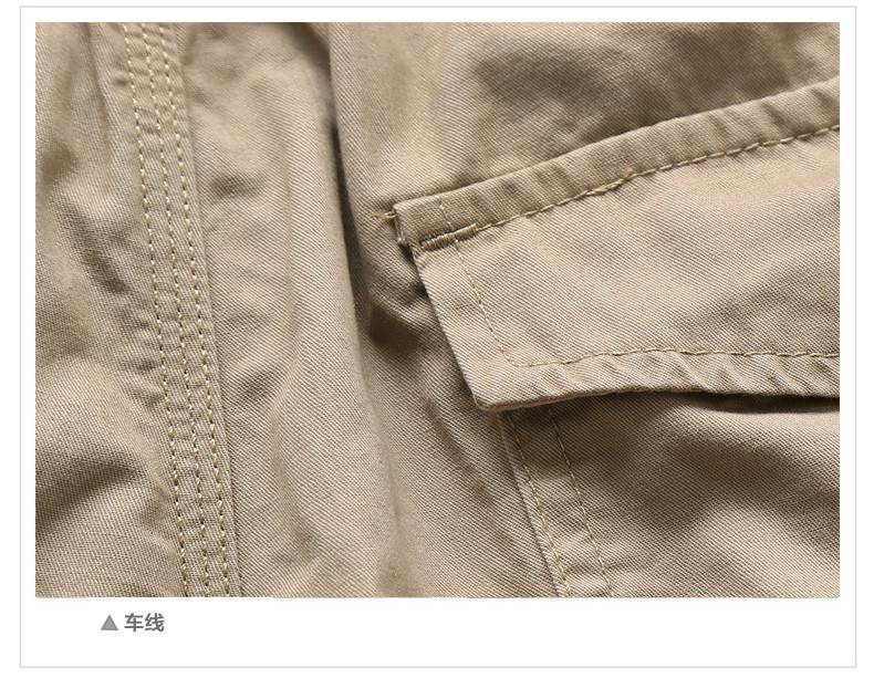 Mùa hè ngoài trời đa túi dụng cụ quần short nam cộng với phân bón XL casual cắt quần cotton thể thao quần mỏng