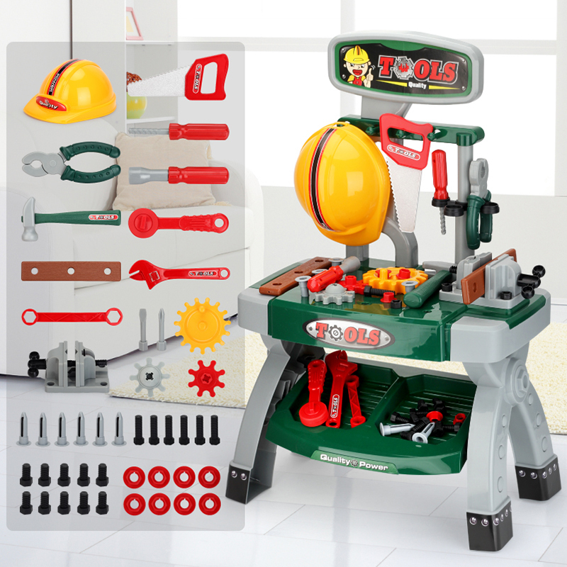 Over-home children's toolbox toy set screwdriver simulation repair rig 36-year-old boy baby electric drill