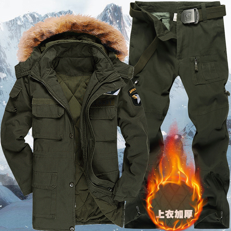 Special forces winter thickening camouflage clothing for training clothing men's loose military fan suit cotton outdoor sports work clothes