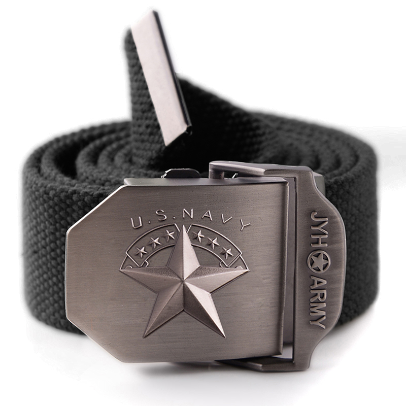 Casual sports fashion canvas belt men and women trend military style personality pants belt military fan tactical canvas belt