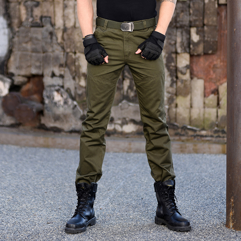 Outdoor leisure sports hiking pants spring and autumn section of cotton slim military fans tactical workwear pants fashion men's pants