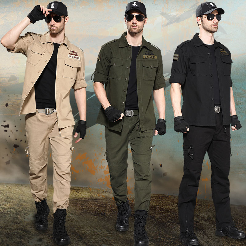 Junno march spring and autumn outdoor sportswear cotton army fans to train camouflage clothing wear-resistant loose workwear tactical suit men