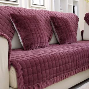 Шоу лодка зима простой современный фланель подушки на диване подушка ткань короткие плюшевые диван крышка полотенце скольжение стандарт