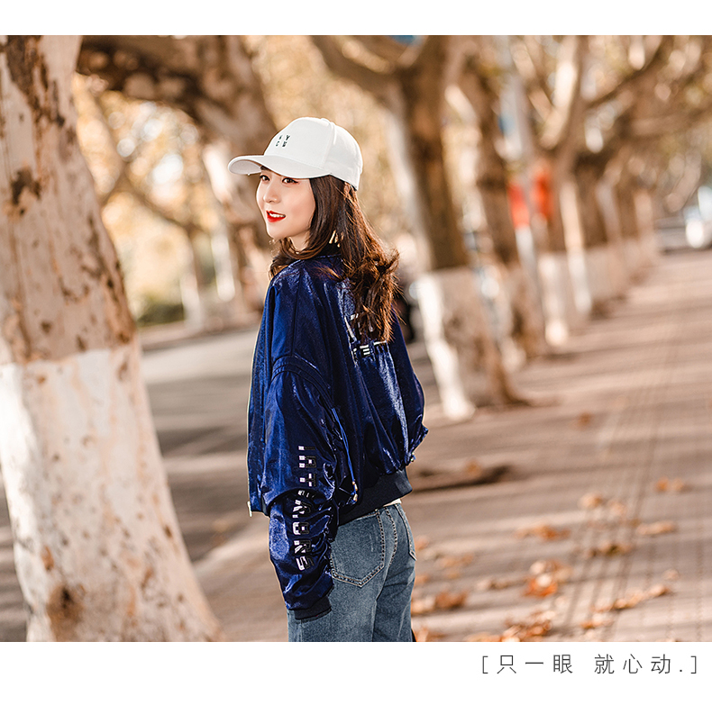 Hong Kong-flavored jacket women's spring and autumn 2020 new Korean version of the popular bat sleeve loose baseball shirt short early spring jacket tide 60 Online shopping Bangladesh
