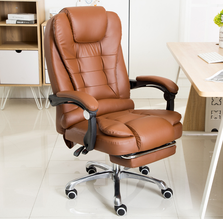 Tang Law Computer Chair Home Office Chair Reclining Boss Chair Lift Chair  Leather Massage Footrest Chair